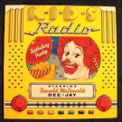 K-I-D-S RADIO  ~  Birthday Party    Starring Ronald McDonald  Dee-Jay   1980 LP