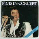 "ELVIS PRESLEY  ~  "" Elvis In Concert ""      1977 DOUBLE Rock LP"