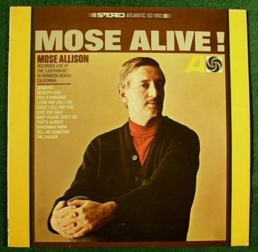 MOSE ALLISON  ~  Mose Alive !         1965 Jazz LP
