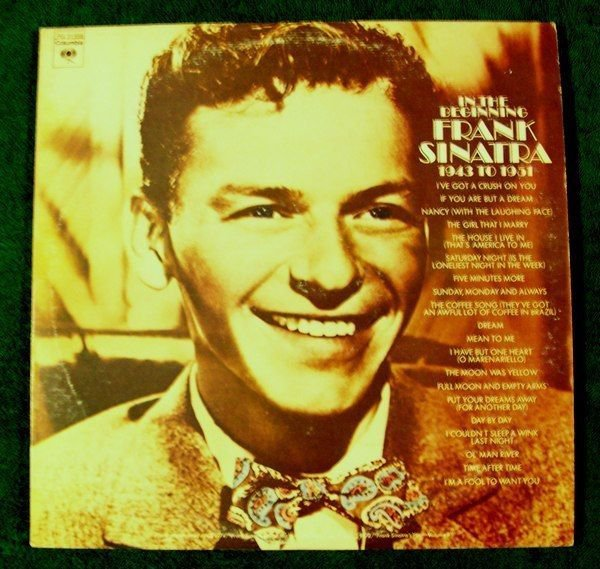 FRANK SINATRA In The Beginning 1943 To 1951 1972 Double LP