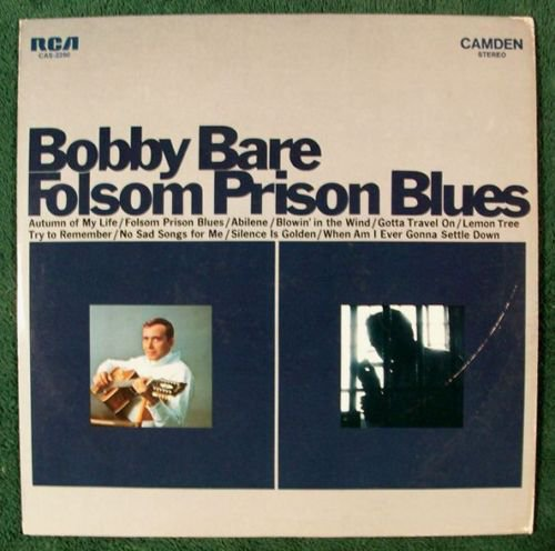BOBBY BARE Folsom Prison Blues 1969 Country LP