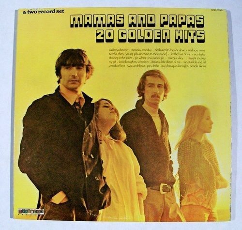 MAMAS AND PAPAS 20 GOLDEN HITS 1973 Rock Sunshine Pop DOUBLE LP