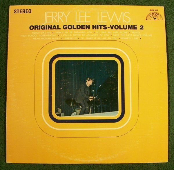 JERRY LEE LEWIS Original Golden Hits Volume 2 1969 Country LP