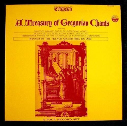 A TREASURY OF GREGORIAN CHANTS Winner French Grand Prix Du Disc 4 LP BOX