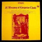 A TREASURY OF GREGORIAN CHANTS ~ Winner French Grand Prix Du Disc  ***  4 LP BOX