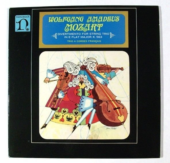 WOLFGANG AMADEUS MOZART Divertimento For String Trio In E Flat Major LP