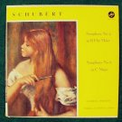 SCHUBERT  ~  Symphony No. 2 In B Flat Major / Symphony No. 6 In C Major    LP