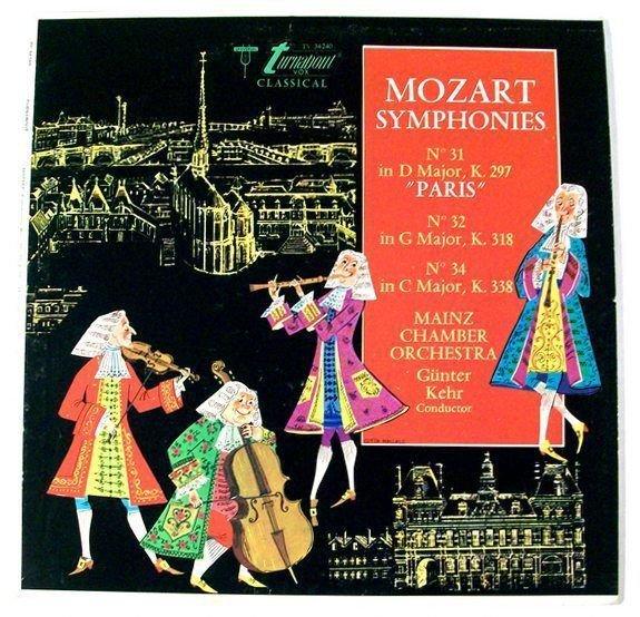 MOZART SYMPHONIES No 31 & 34 Paris& 34 No 32 in G Major No 34 in C Major LP
