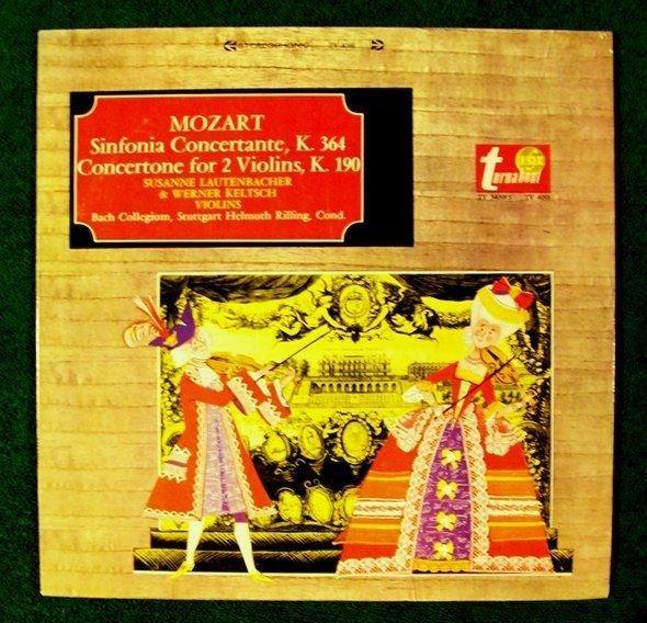 MOZART Sinfonia Concertante Concertone for 2 Violins LP Bach Collegium