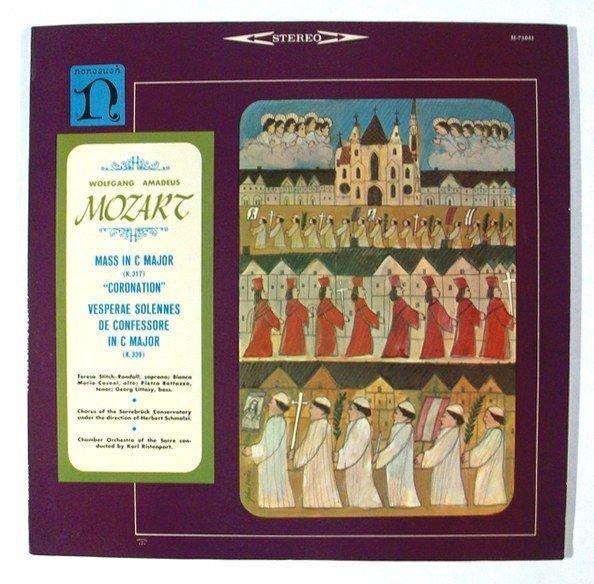 MOZART Mass In C Major & 34 Coronation& 34 Vesperae Solennes De Confessore LP