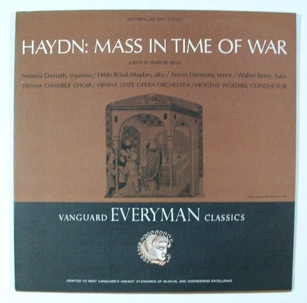 HAYDN Mass In Time Of War Vienna State Opera Orchestra LP Woldike