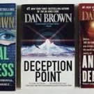 "DAN BROWN    ~    LOT of ( 3 ) Paperbacks      Pre ""Da Vinci Code "" Thrillers"