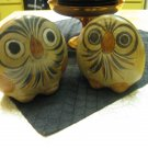 Two vintage Mexican Owls is hand-painted souvenir