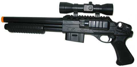 M47B2 Airsoft Benelli Style Pistol Grip with Laser Scope spring powered airsoft gun