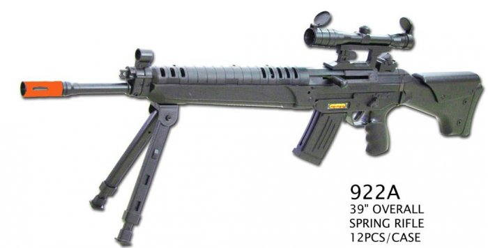 922A spring powered sniper rifle w/ bipod spring powered airsoft gun rifle,