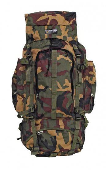 "Extreme Pak Invisible Pattern Camouflage Heavy-Duty 34"" x 13"" Mountaineers Backpack"