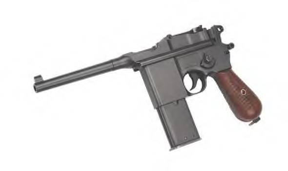 Full Metal - Semi Auto Box Cannon (Mauser) Gas powered airsoft gun pistol