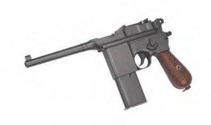 Full Metal - Semi Auto Box Cannon (Mauser) Gas powered airsoft gun pistol