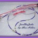 23 3/4  Toho Crystal & Pearl  Beaded Eyeglass Holder