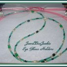 Beaded Eyeglass Holder Pearl Swarovski Crystal Sterling Silver