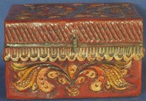 Peruvian Hand-Carved Wooden Trinket Box