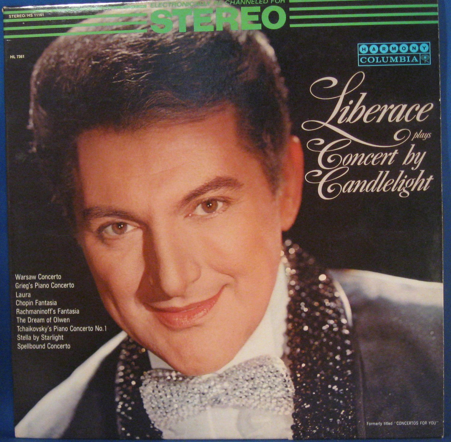 Liberace plays Concert by Candlelight - Vinyl LP