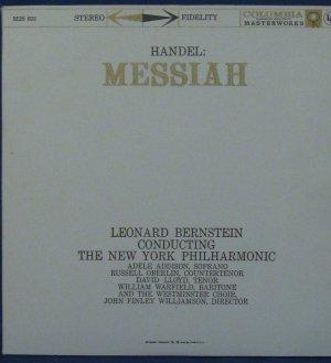 HANDEL: MESSIA with Leonard Bernstein Conducting - (2) Vinyl LPs