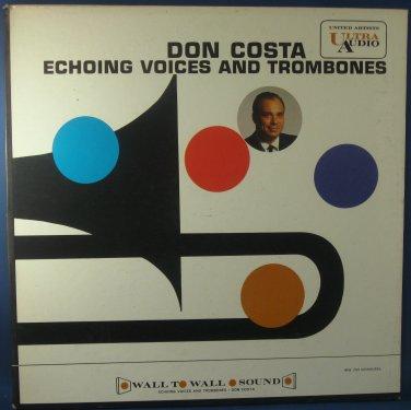 DON COSTA ECHOING VOICES AND TROMBONES - Vinyl LP