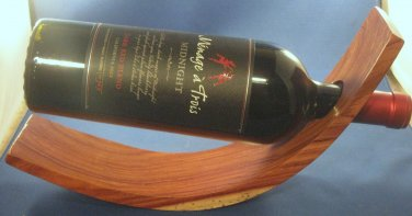 Wood Curved Hand-Crafted Wine Bottle Holder From Belize