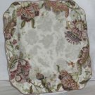 222 Fifth Plate Dinner Square Gabrielle Jacobean Floral Paisley Porcelain New