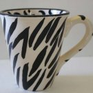 Mary Rose Young Mug Zebra Stripe Leopard Spot Coffee Tea Cocoa Stoneware New