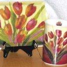 Ashdene Porcelain Mug & Melamine Tray Talking Tulips Snack 2 Pc Set Spring New