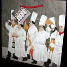 Gift Bags Guy Buffet Art Work Chef Brigade Champagne Chickens Set 2 New