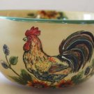 Hand Painted Bowl Country Rooster Sunflowers Over Sized Tuscan Multi Purpose New
