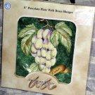 American Atelier Plate & Hanger Grapes Lattice Fruit Dessert Decor Collectible