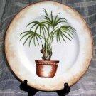 American Atelier Plate & Hanger Tropical Palm Salad Dessert Decorative Brass New