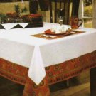 Tabletops Gallery Tablecloth Rio Southwestern Country Geometric 60x104 New