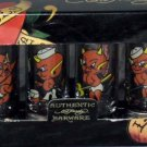 Don Ed Hardy Shot Glasses Love Kills Slowly Little Devil Tattoo Glass Set 4 New