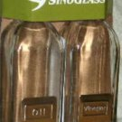 Sinoglass Oil & Vinegar Set Cruets Cubi Glass Bottles New