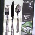 Oneida Flatware Set Paulo 18/10 Stainless Steel 20 pc New