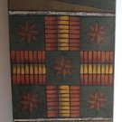 Folk Art Game Board Wall Plaque House Star Primitive Graybill Hand Painted Wood