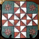 Folk Art Game Board Wall Plaque Vintage Reproduction Primitive Quilt Blocks New