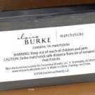 Claire Burke Frosted Glass & Tin Match Box Container Wood Matches Sticks New