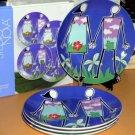 Studio Nova Plates Dessert Salad Love in Bloom Adam & Eve Porcelain Set 4 New