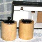 William Bounds Pepper Mill & Salt Shaker Set Aspen Patented Swedish Modern New