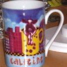 Sharon Neuhaus Mug Calfee Mates Cow Coffee Tea  Cocoa Latte City Calfeine New