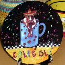 Sharon Neuhaus Plate Calfee Mates Cow Coffee Ole Dessert Lunch Salad New Gift