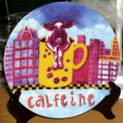 Sharon Neuhaus Plate Calfee Mates Cow Coffee Calfeine Dessert Salad New