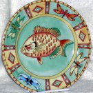 Siddhia Hutchinson Plate Splash Fish Dragonfly Dessert Salad Collectible New