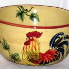 Rooster Sunflowers Bowl Over Sized Tuscan Style Multi Purpose Soup Salad New